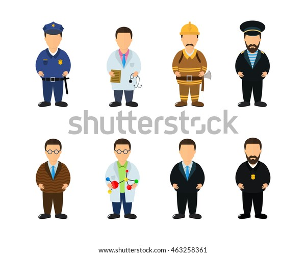 Important Social Jobs Professions People Firefighter Stock