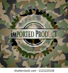 Imported Product on camo texture