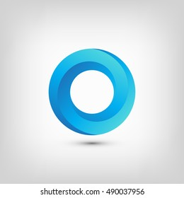 Impossible Circle Object. Logo Template. Vector Illustration