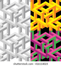 impossible figure pattern background a la  Escher. For textile and more