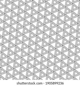 impossible geometry black and white triangle pattern