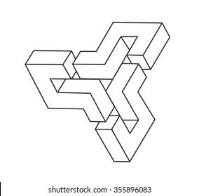Impossible object line geometric shape