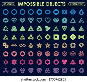 Impossible objects ultimate set 80 icons