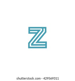 Impossible shape Letter Z Logo design vector template Linear. Type Character Symbol Monogram Logotype Labyrinth concept.