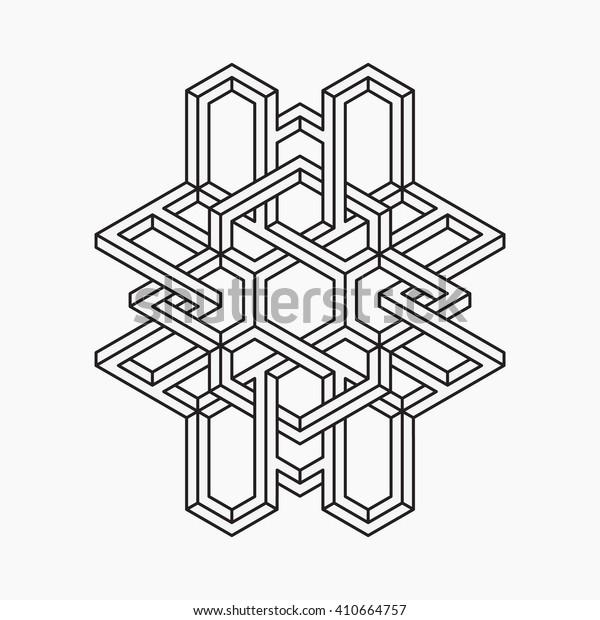 Impossible shape. Line design. Vector illustration EPS 10