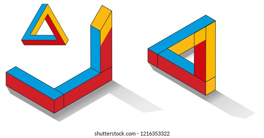 Impossible triangle 3D