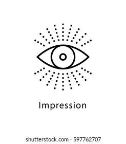 Impression Vector Line Icon