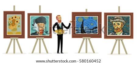 impressionist painter painting portraits