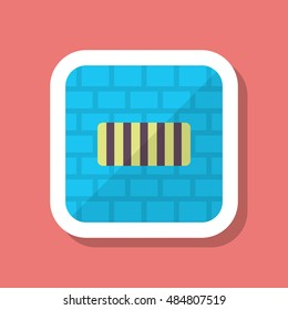 Imprisonment icon, Vector flat long shadow design. EPS10