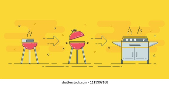 Improve your barbecue or grill. From small to large barbecue.