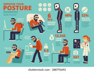 Improve Your Posture Infographics