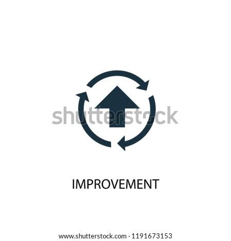 improvement icon simple element illustration improvement stock