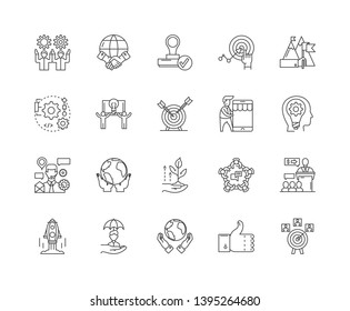 Improvement line icons, signs, vector set, outline illustration concept  - Shutterstock ID 1395264680