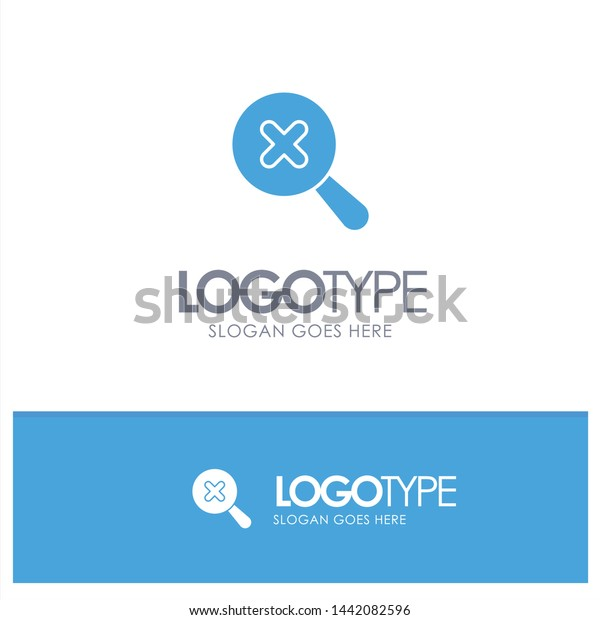 Search Zoom Blue Solid Logo Place Stock Vector (Royalty Free