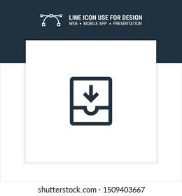 inbox cabinet archive sign icon design vector illustration