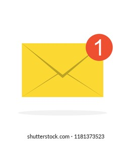 Inbox letter vector icon. You've got mail. eps 10