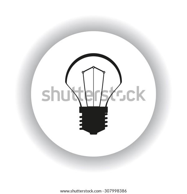 incandescent bulb. icon. vector design