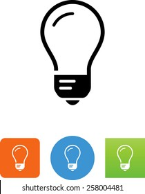 Incandescent light bulb icon