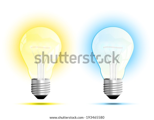 Incandescent Light Bulb Soft White Daylight Stock Vector