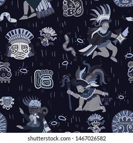 Incas pattern seamless design graphic
