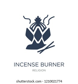 Incense burner icon. Trendy flat vector Incense burner icon on white background from Religion collection, vector illustration can be use for web and mobile, eps10
