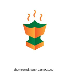 incense icon design with creative modern concept and simple logo trendy shape style design vector eps 10