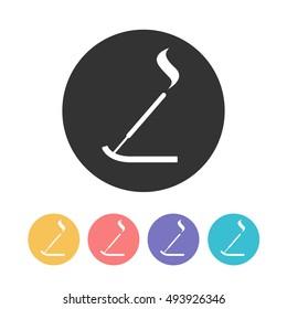 incense sticks icon. vector illustration