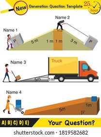 inclined physics eps vector new generation question template