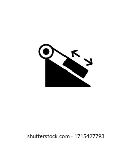 Inclined plane vector icon in black solid flat design icon isolated on white background