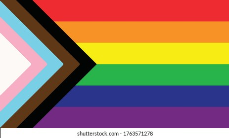Inclusive Pride Flag - Queer LGBTQIA+ - BIPOC, Trans, Gay, Lesbian, Bisexual, Asexual, Intersex