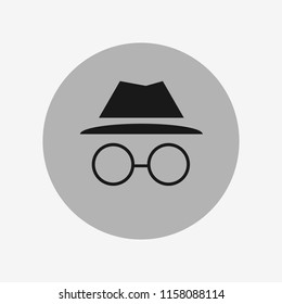 Incognito icon. Browse in private.  Vector illustration. EPS 10.