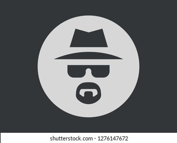 Incognito Icon Vector Illustration. Browse in private