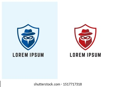 incognito shield vpn logo, vector, template