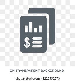 Income statement icon. Trendy flat vector Income statement icon on transparent background from Business  collection.