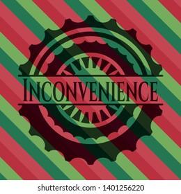 Inconvenience christmas emblem background. Vector Illustration. Detailed.