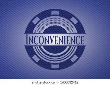 Inconvenience denim background. Vector Illustration. Detailed.