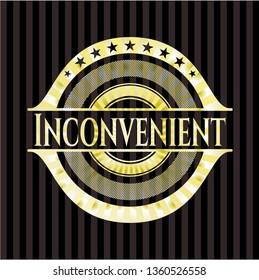 Inconvenient golden emblem