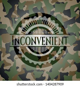 Inconvenient on camouflaged texture. Vector Illustration. Detailed.