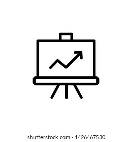 increase in artboard icon on white background - Vector