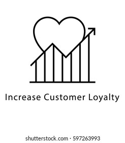 Increase Customer Loyalty Vector Line Icon