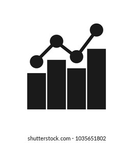 Increase icon Vector. Graph icon