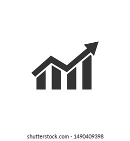 Increase icon vector. Graph. Growth sign