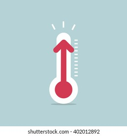 Increased temperature with thermometer