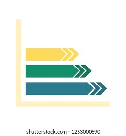 Increasing graph design for business graphics and web site - Vector Design Concept