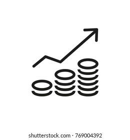 Increasing revenue icon