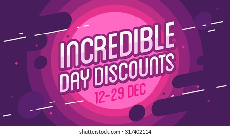 Incredible sale banner. Vector illustration