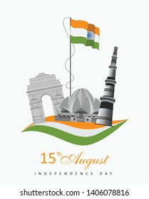 Independence Day 15 August Delhi India Monuments
