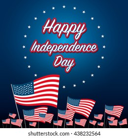 independence day 4 th july. happy independence day. vector illustration.