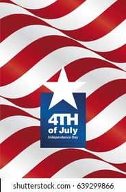 Independence Day 4th of July USA ribbon portrait poster