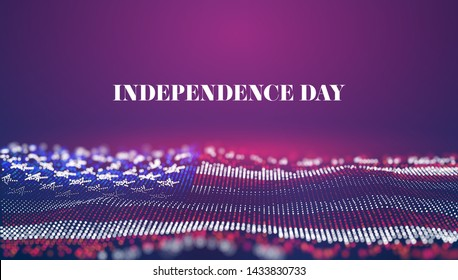 Independence day abstract vector background. USA flag. 4th of july national celebrate. Liberty symbol
